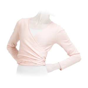 Long sleeved wrap-over top
