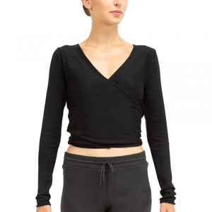 Knitted wrap over top