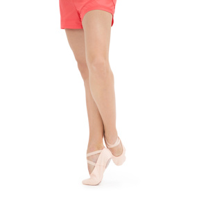Soft ballet shoes with split sole
