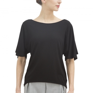SHORT SLEEVES TOP IN SOFT VISCOSE