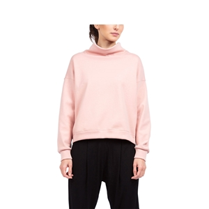 High-collar warm-up sweatshirt