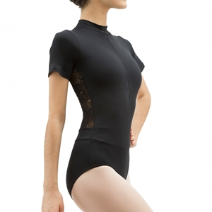 Officer collar leotard with lace in the back Second