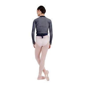 Long sleeves wrap-over top Second