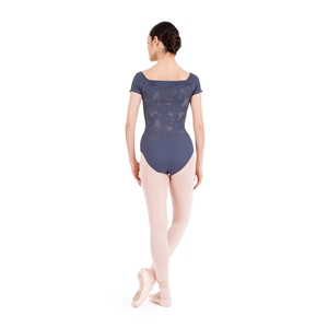 Short sleeves lace leotard Second