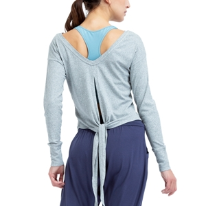 Long sleeves top to tie Second