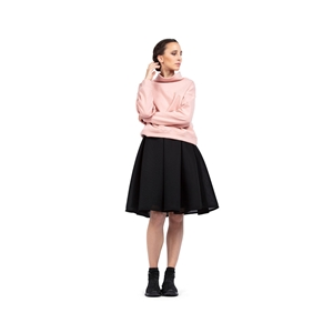 High-collar warm-up sweatshirt Second